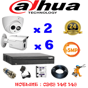 Lắp Đặt Trọn Bộ 8 Camera Dahua 5.0Mp (Dah-5229630)-DAH-5229630