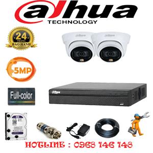 Lắp Đặt Trọn Bộ 2 Camera Dahua 5.0Mp (Dah-523100)-DAH-523100