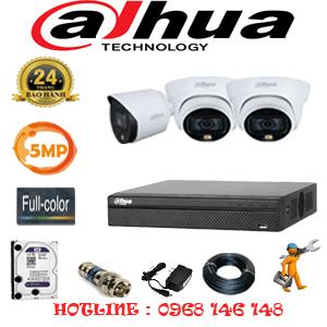 Lắp Đặt Trọn Bộ 3 Camera Dahua 5.0Mp (Dah-5231132)-DAH-5231132