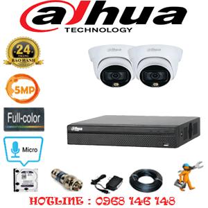 Lắp Đặt Trọn Bộ 2 Camera Dahua 5.0Mp (Dah-523300)-DAH-523300
