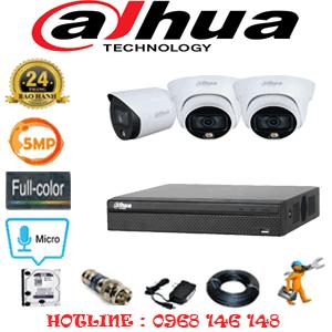 Lắp Đặt Trọn Bộ 3 Camera Dahua 5.0Mp (Dah-5233134)-DAH-5233134