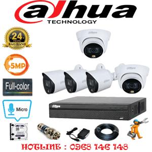 Lắp Đặt Trọn Bộ 5 Camera Dahua 5.0Mp (Dah-5233334)-DAH-5233334