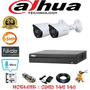 Lắp Đặt Trọn Bộ 2 Camera Dahua 5.0Mp (Dah-523400)-DAH-523400