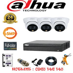Lắp Đặt Trọn Bộ 3 Camera Dahua 5.0Mp (Dah-533100)-DAH-533100