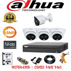 Lắp Đặt Trọn Bộ 4 Camera Dahua 5.0Mp (Dah-5331132)-DAH-5331132