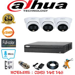 Lắp Đặt Trọn Bộ 3 Camera Dahua 5.0Mp (Dah-533300)-DAH-533300