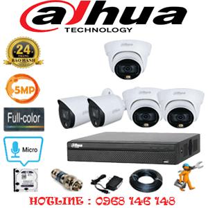 Lắp Đặt Trọn Bộ 5 Camera Dahua 5.0Mp (Dah-5333234)-DAH-5333234