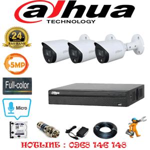 Lắp Đặt Trọn Bộ 3 Camera Dahua 5.0Mp (Dah-533400)-DAH-533400