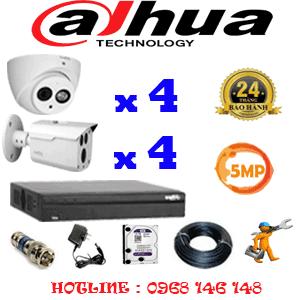 Lắp Đặt Trọn Bộ 8 Camera Dahua 5.0Mp (Dah-5429430)-DAH-5429430