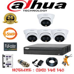 Lắp Đặt Trọn Bộ 4 Camera Dahua 5.0Mp (Dah-543100)-DAH-543100