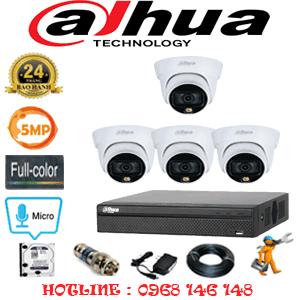 Lắp Đặt Trọn Bộ 4 Camera Dahua 5.0Mp (Dah-543300)-DAH-543300