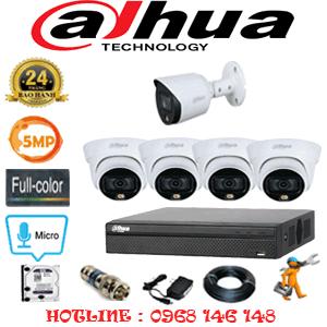 Lắp Đặt Trọn Bộ 5 Camera Dahua 5.0Mp (Dah-5433134)-DAH-5433134