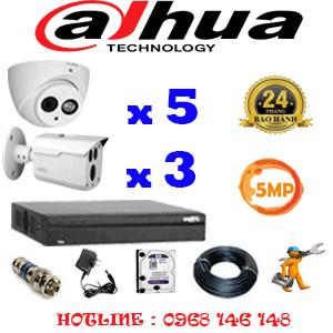 Lắp Đặt Trọn Bộ 8 Camera Dahua 5.0Mp (Dah-5529330)-DAH-5529330