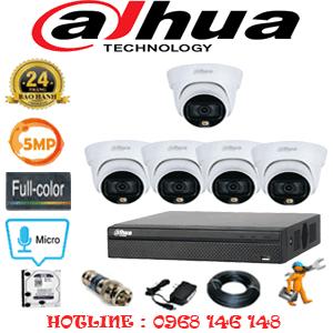 Lắp Đặt Trọn Bộ 5 Camera Dahua 5.0Mp (Dah-553300)-DAH-553300