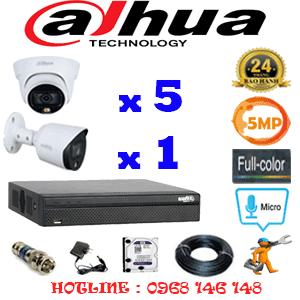 Lắp Đặt Trọn Bộ 6 Camera Dahua 5.0Mp (Dah-5533134)-DAH-5533134