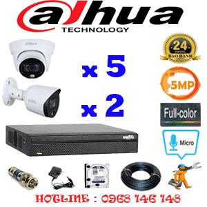 Lắp Đặt Trọn Bộ 7 Camera Dahua 5.0Mp (Dah-5533234)-DAH-5533234