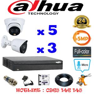 Lắp Đặt Trọn Bộ 8 Camera Dahua 5.0Mp (Dah-5533334)-DAH-5533334