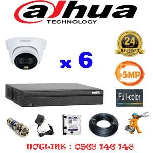 Lắp Đặt Trọn Bộ 6 Camera Dahua 5.0Mp (Dah-563100)-DAH-563100