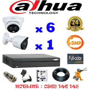 Lắp Đặt Trọn Bộ 7 Camera Dahua 5.0Mp (Dah-5631132)-DAH-5631132