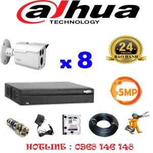 Lắp Đặt Trọn Bộ 8 Camera Dahua 5.0Mp (Dah-583000)-DAH-583000
