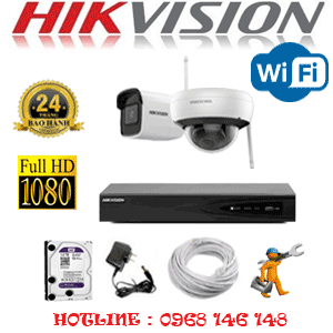 Lắp Đặt Trọn Bộ 2 Camera Wifi Hikvision 2.0Mp (Hik-2115116)-HIK-2115116