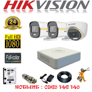 Lắp Đặt Trọn Bộ 3 Camera Hikvision 2.0Mp (Hik-2139240)-HIK-2139240