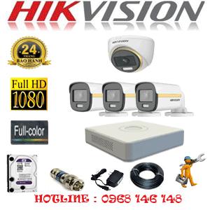 Lắp Đặt Trọn Bộ 4 Camera Hikvision 2.0Mp (Hik-2139340)-HIK-2139340
