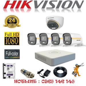 Lắp Đặt Trọn Bộ 5 Camera Hikvision 2.0Mp (Hik-2139440)-HIK-2139440