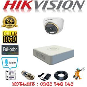 Lắp Đặt Trọn Bộ 1 Camera Hikvision 2.0Mp (Hik-214100)-HIK-214100
