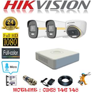 Lắp Đặt Trọn Bộ 3 Camera Hikvision 2.0Mp (Hik-2141242)-HIK-2141242