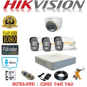 Lắp Đặt Trọn Bộ 4 Camera Hikvision 2.0Mp (Hik-2141342)-HIK-2141342