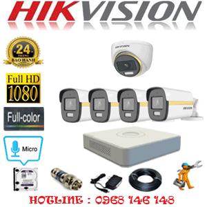 Lắp Đặt Trọn Bộ 5 Camera Hikvision 2.0Mp (Hik-2141442)-HIK-2141442