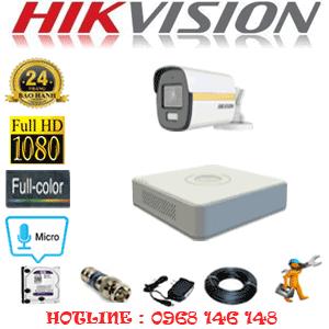 Lắp Đặt Trọn Bộ 1 Camera Hikvision 2.0Mp (Hik-214200)-HIK-214200