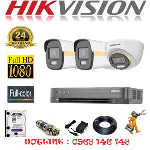 Lắp Đặt Trọn Bộ 3 Camera Hikvision 2.0Mp (Hik-2143244)-HIK-2143244