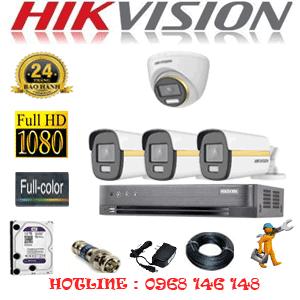 Lắp Đặt Trọn Bộ 4 Camera Hikvision 2.0Mp (Hik-2143344)-HIK-2143344