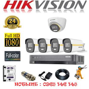 Lắp Đặt Trọn Bộ 5 Camera Hikvision 2.0Mp (Hik-2143444)-HIK-2143444