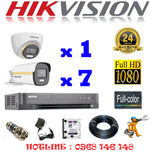 Lắp Đặt Trọn Bộ 8 Camera Hikvision 2.0Mp (Hik-2143744)-HIK-2143744