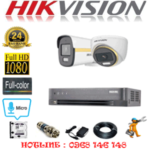 Lắp Đặt Trọn Bộ 2 Camera Hikvision 2.0Mp (Hik-2145146)-HIK-2145146