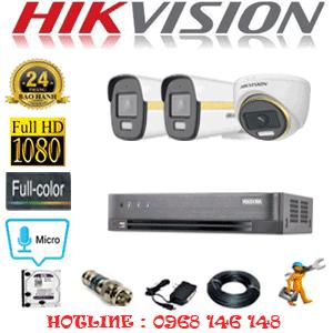 Lắp Đặt Trọn Bộ 3 Camera Hikvision 2.0Mp (Hik-2145246)-HIK-2145246
