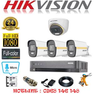 Lắp Đặt Trọn Bộ 4 Camera Hikvision 2.0Mp (Hik-2145346)-HIK-2145346