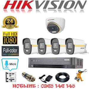 Lắp Đặt Trọn Bộ 5 Camera Hikvision 2.0Mp (Hik-2145446)-HIK-2145446
