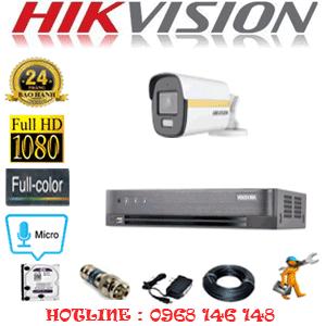 Lắp Đặt Trọn Bộ 1 Camera Hikvision 2.0Mp (Hik-214600)-HIK-214600