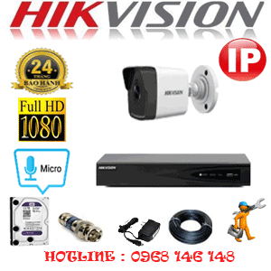 Lắp Đặt Trọn Bộ 1 Camera Ip Hikvision 2.0Mp (Hik-215000)-HIK-215000