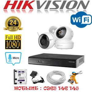 Lắp Đặt Trọn Bộ 2 Camera Wifi Hikvision 2.0Mp (Hik-2151152)-HIK-2151152