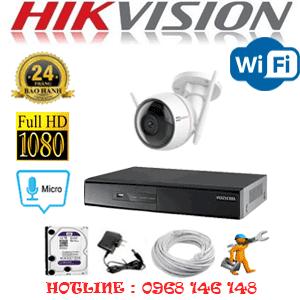 Lắp Đặt Trọn Bộ 1 Camera Wifi Hikvision 2.0Mp (Hik-215200)-HIK-215200