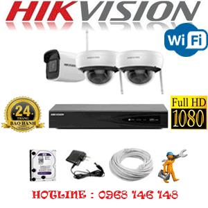 Lắp Đặt Trọn Bộ 3 Camera Wifi Hikvision 2.0Mp (Hik-2215116)-HIK-2215116