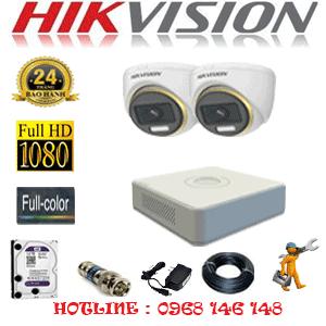 Lắp Đặt Trọn Bộ 2 Camera Hikvision 2.0Mp (Hik-223900)-HIK-223900