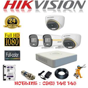 Lắp Đặt Trọn Bộ 4 Camera Hikvision 2.0Mp (Hik-2239240)-HIK-2239240