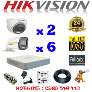 Lắp Đặt Trọn Bộ 8 Camera Hikvision 2.0Mp (Hik-2239640)-HIK-2239640