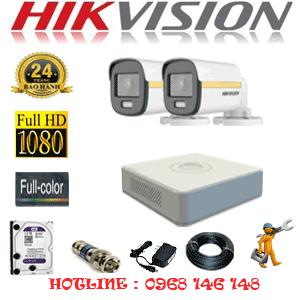 Lắp Đặt Trọn Bộ 2 Camera Hikvision 2.0Mp (Hik-224000)-HIK-224000